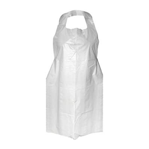 Disposable White Plastic (HDPE) Aprons